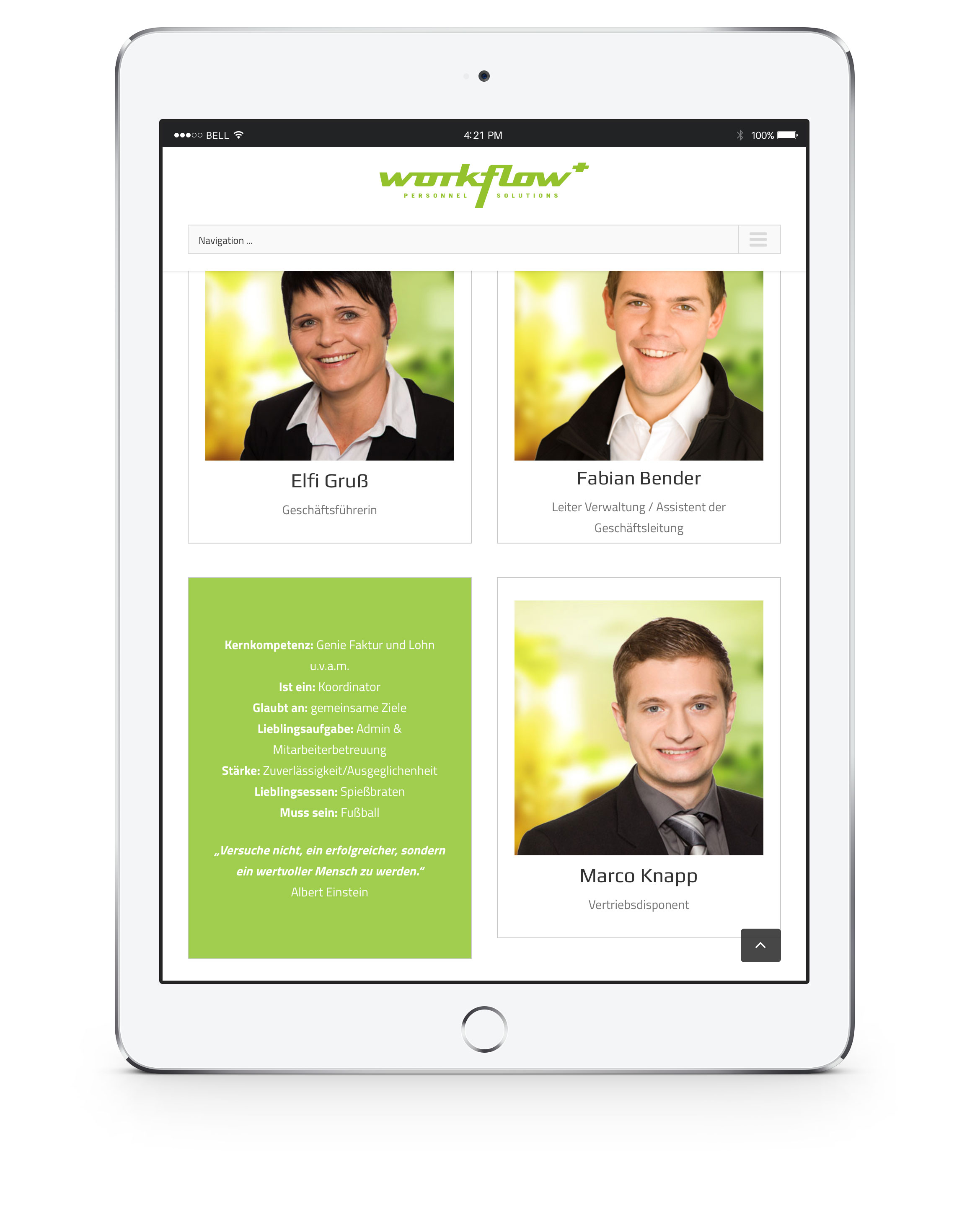 workflow+ responsive Screendesign