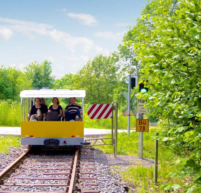 Solardraisine Überwaldbahn