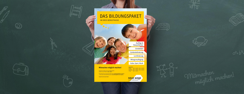 Poster Das Bildungspaket im Kreis Bergstraße