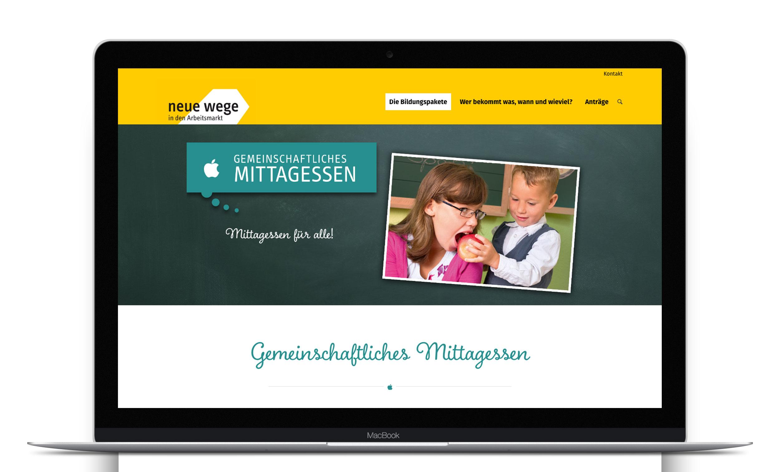 Website »Das Bildungspaket im Kreis Bergstraße«
