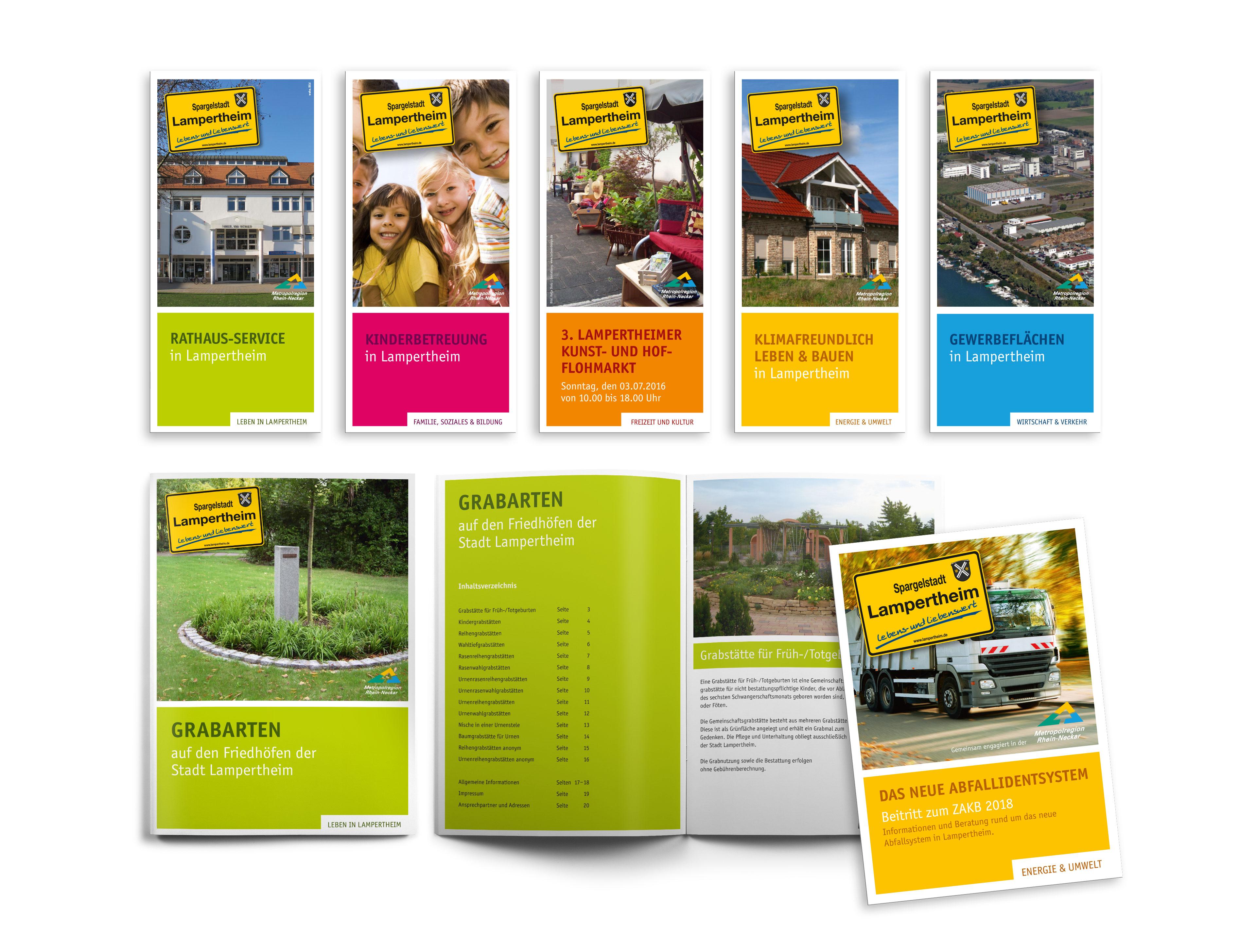 Folder, Flyer, Broschüren »Stadt Lampertheim«
