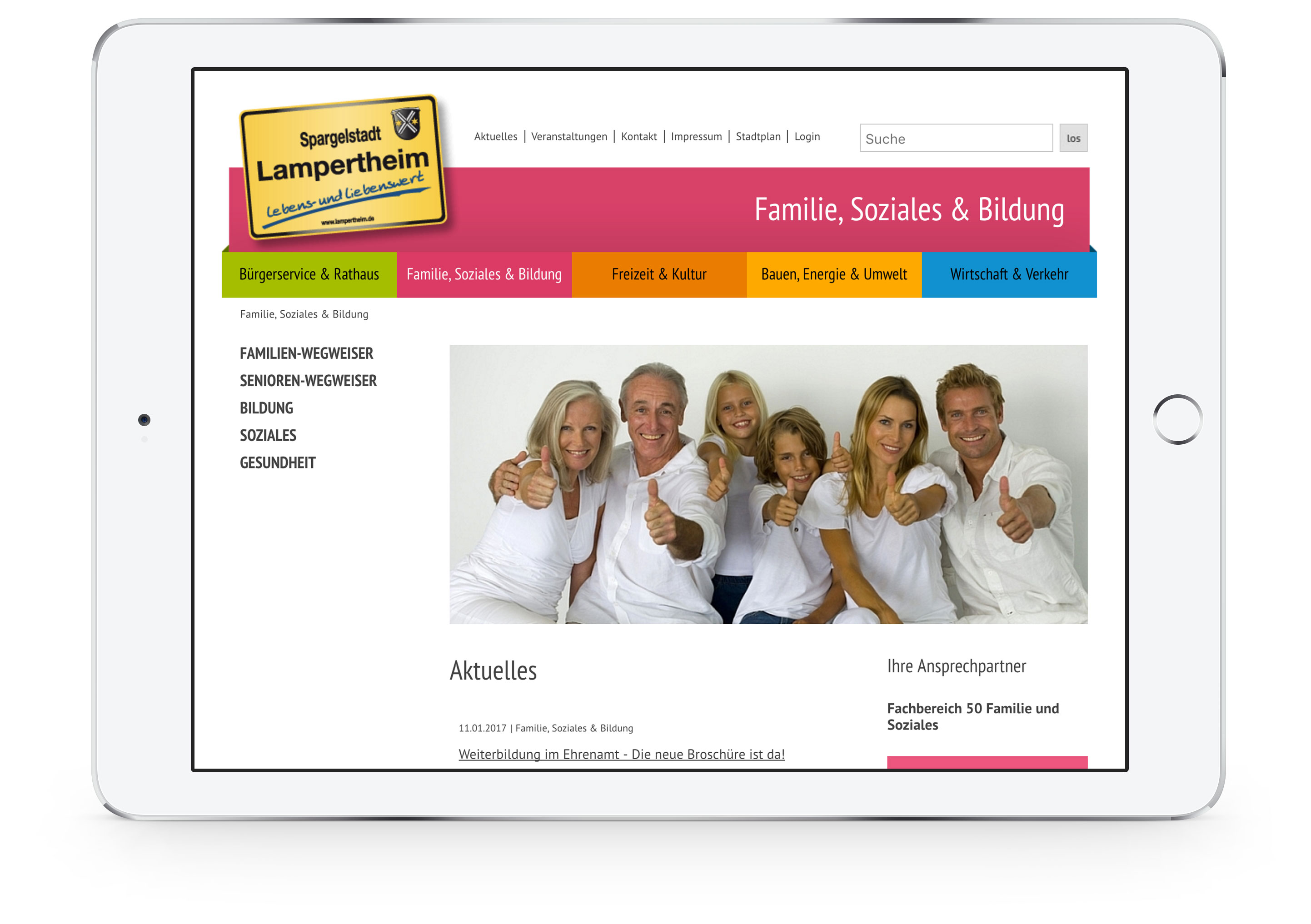Website »Stadt Lampertheim«