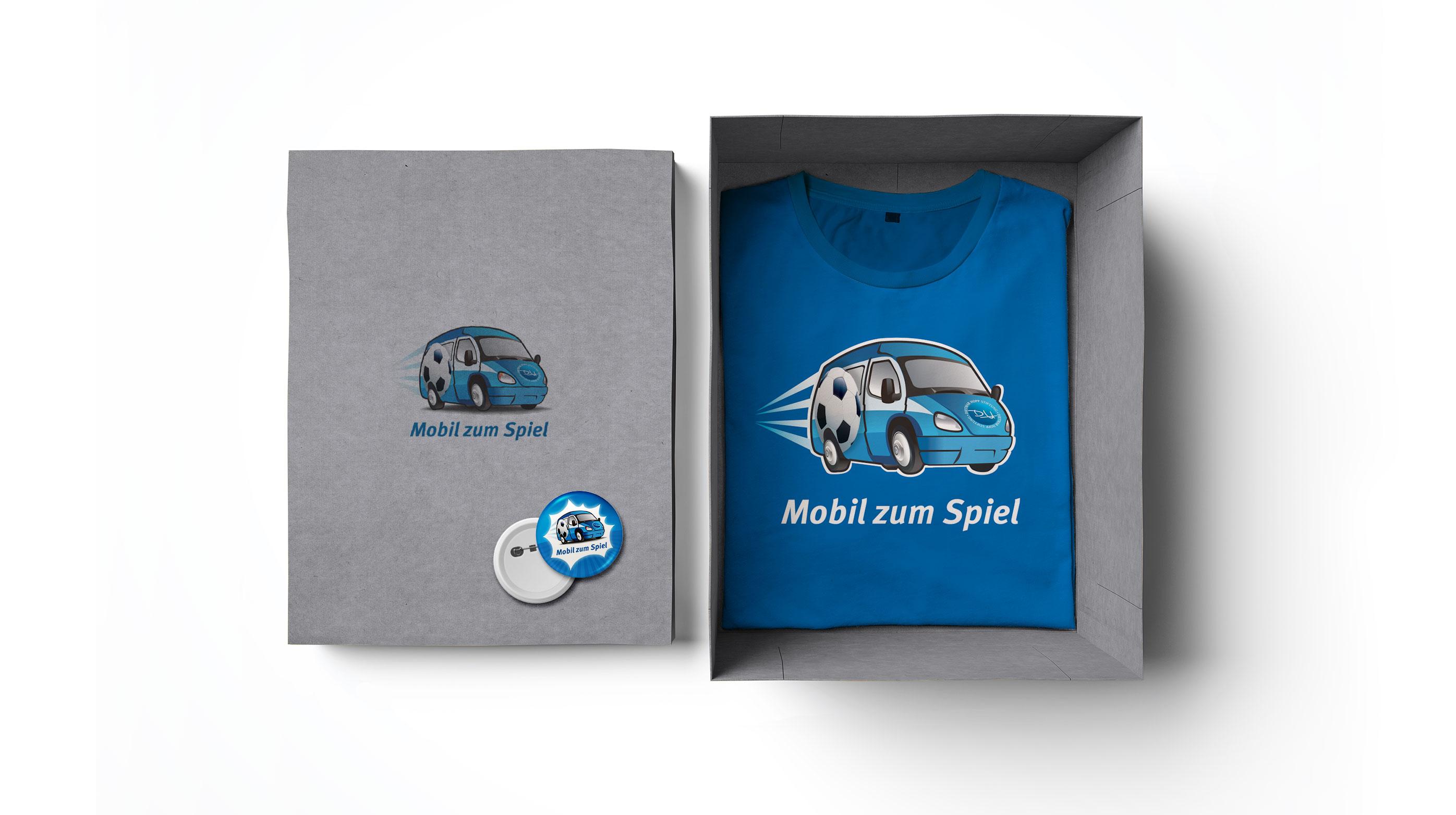 »T-Shirt« Mobil zum Spiel