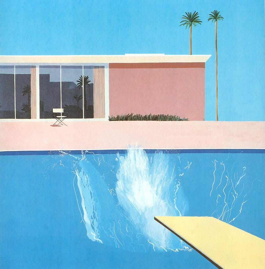 David Hockney »A bigger splash« 1967 @Tate
